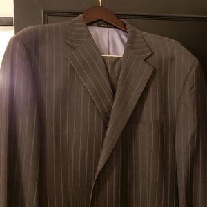 Sean John Mens Charcoal Grey pinstripe suit